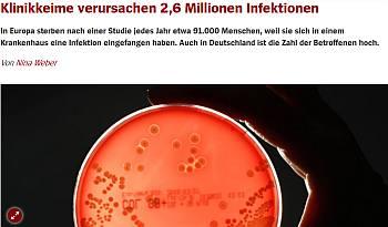 Klinikkeime verursachen jährlich 500.000 Infektionen in Deutschland