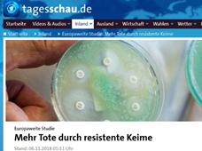 Mehr Tote durch resistente Keime